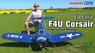 Download Electric RC F4U CORSAIR (Black Horse Warbird, 4 blade propellor, 12S lipo power system) Video