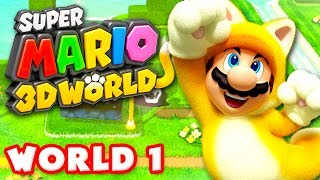 Download Super Mario 3D World - Walkthrough Part 1 - World 1 100% (Nintendo Wii U Gameplay) Video