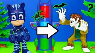 Download PJ Masks Catboy Finds Werewolf Costume in Spooky Transforming Towers Video