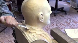 Download Wood carved male head Limewood ″Tico″ Video