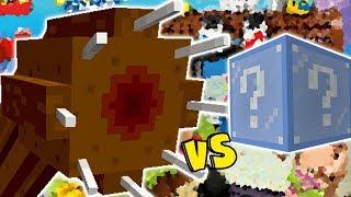Download MINHOCA GIGANTE VS. LUCKY BLOCK FROZEN (MINECRAFT LUCKY BLOCK CHALLENGE GIANT WORM) Video