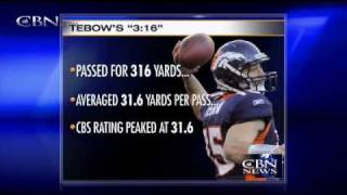 Download COINCIDENCE? You Decide - Tim Tebow and John 3:16 - Sunday's Game Stats with ″316″ In Them!!! Video