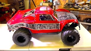 Download We went too far! OBR 46cc 12hp Gas Engine w/ Silenced Pipe in 4x4 Concept Truck | RC ADVENTURES Video