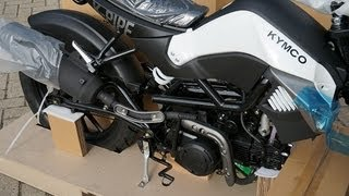 Download Kymco K-Pipe 125 unboxing/uncrating and assembly time lapse Video