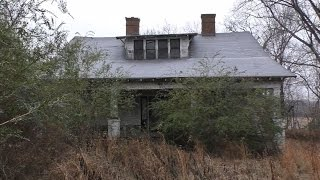 Download Abandoned old house with some detecting at end Video