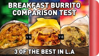 Download Taste Testing 3 of LA's Best BREAKFAST BURRITO'S Ft. React Video