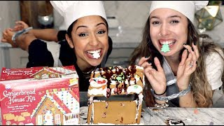 Download GINGERBREAD HOUSE WITH NO HANDS CHALLENGE!! Video