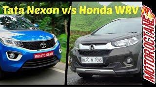 Download Tata Nexon vs Honda WRV Comparison - टाटा नेक्सन vs होंडा डब्लूआरवी Video