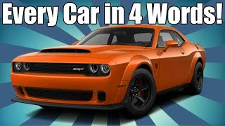 Download Every Car Ever in 4 Words! AMERICAN EDITION Video