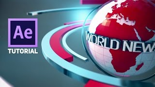 Download Adobe After Effects 3D Broadcast News Open Tutorial | Element 3D Video