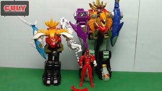 Download Robot siêu nhân gaoking phiên bản mini đồ chơi trẻ em gao rangers megazord mini version toy Video