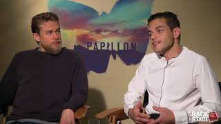 Download Charlie Hunnam Starves for PAPILLON, Almost Punches Rami Malek on Set Video