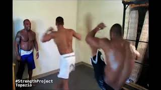 Download Explosive Acrobatics Inside Small Hotel Room {Capoeira Topazio} Video