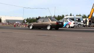 Download BMW e30 328i m52b28 turbo 1/4 mile @bimmerparty 2015 (13.5s - 188km/h) Video