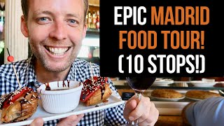 Download EPIC Madrid Food Tour (10 AMAZING stops) Video