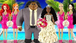 Download Play doh wedding disney princess Moana Maui Elsa Anna Ariel Mulan princess dress play doh videos Video