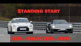 Download DRAG RACE Nissan GTR Alpha 12 vs Porsche 918 Spyder 300+ km/h 200+ mph Video