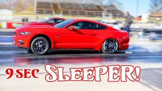 Download 9 SEC SLEEPER! DAILY DRIVER! '16 5.0 GT MUSTANG! HELLION TWIN TURBO! BYRON DRAGWAY! Video