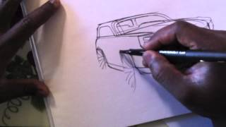 Download Sketch-A-Day 385: 6 Minute SUV Sketch Video