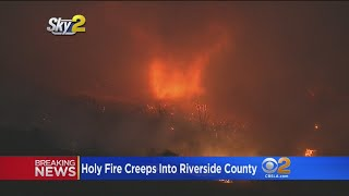 Download Residents Near Corona Anxiously Await Evacuation Orders As Holy Fire Creeps Into Riverside County Video