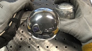 Download TIG Welding Aluminum Fabrication - Making a Ball out of 1/8″ Thick Flat Aluminum Sheet - 6061 Video