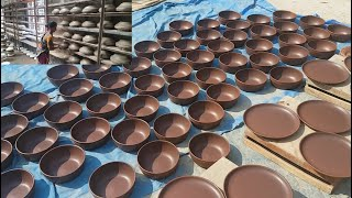 Download Pottery Factory | Modern Pottery Clay Work By Women | Fast & Perfect Cookware Making Video