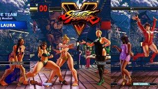 Download Street Fighter V AE Cammy/Chun Li/Laura vs Falke/Menat/Sakura PC Mod Video