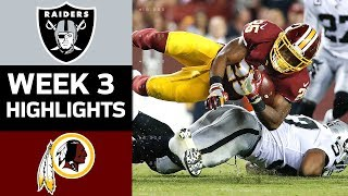 Download Raiders vs. Redskins | NFL Week 3 Game Highlights Video