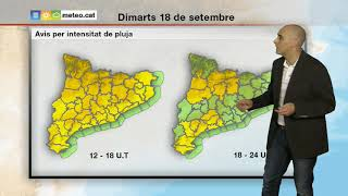 Download Predicció general per a dimarts tarda 18-09-2018: ruixats dispersos. Video