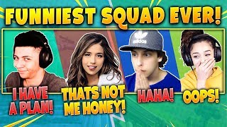 Download Myth, Pokimane, Cizzorz, Valkyrae! Funniest Squad Ever! Fortnite Battle Royale Highlights Moments! Video