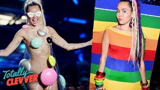 Download 5 Weirdest Miley Cyrus Looks At 2015 VMAs (Totally Clevver) Video