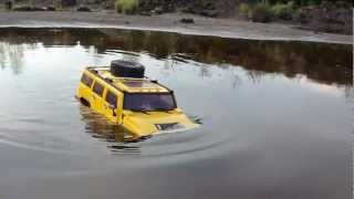 Download RC TRAIL HUMMER H2 GOING DEEP & FLIGHT BIG LAMA OVER WATER Video
