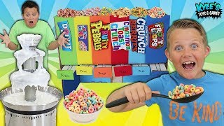 Download Giant Breakfast Cereal Fountain Fondue Mystery Candy Dispenser Game!! Video