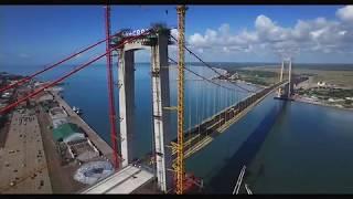 Download Aerial shot of Maputo- KaTembe Bridge - 2018.05.08 Video
