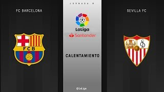 Download Calentamiento FC Barcelona vs Sevilla FC Video