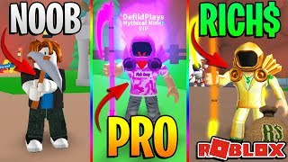 Download ROBLOX NOOB VS PRO VS BILLIONAIRE - ROBLOX MINING SIMULATOR *FUNNY*! Video