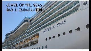 Download JEWEL OF THE SEAS | Day 1 | Embarkation from Civitavecchia | August 2017 Video