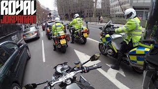 Download BMW S1000Rs accidental ride with 3 Police Riders Video