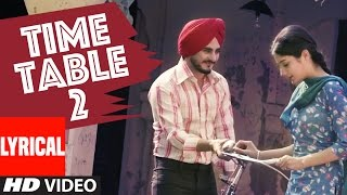 Download Kulwinder Billa Time Table 2 (ਟਾਈਮ ਟੇਬਲ 2) Full Lyric Video Song | Latest Punjabi Song Video