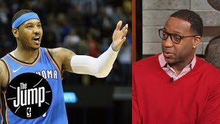 Download Tracy McGrady says Carmelo Anthony should come off Thunder's bench | The Jump | ESPN Video