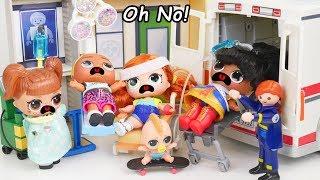 Download Ambulance Hospital at Barbie Skateboard Ramp - #Hairgoals Makeover Series 5 LOL Surprise Dolls Video