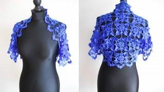 Download How to crochet blue shrug bolero free pattern tutorial by marifu6a Video