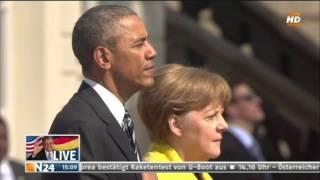 Download Obama`s last Visit in Germany (Hannover Herrenhausen) 24.4.16 Video