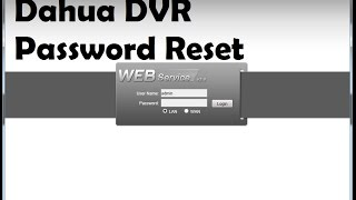 Dvr Password Reset Tool