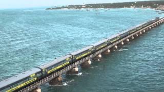 Download Train on Pamban bridge 4 Video