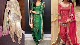 Download Party wear Punjabi suit designs ideas/heavy Embroided patiala suit designs ideas Video