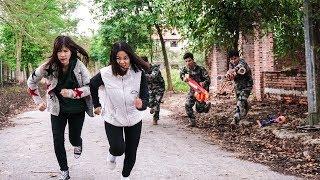 Download Nerf War: Infantry Man 😎 Marines Nerf Guns Bank robbery Rescue Pretty Girl Nerf Movie Video