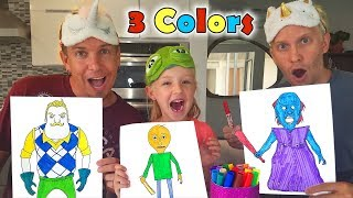 Download 3 Marker Challenge With in Real Life Characters!!! Baldi's Basics, Hello Neighbor and Granny Video