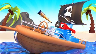 Download Super Truck is a Pirate Truck and Save the Babies - Carl the Super Truck - Car City ! Cars cartoon Video