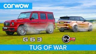 Download AMG G63 vs Range Rover Sport SVR: TUG OF WAR - Mat vs Yianni! Video